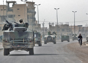 The first US military convoys travelling in softskin Humvees were easy targets in Baghdad and other Iraqi cities