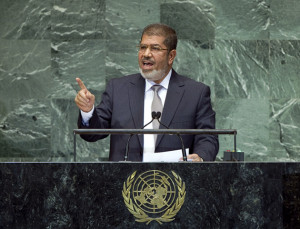 Mohamed Morsy, President of the Arab Republic of Egypt addresses the general debate of the sixty-seventh session of the General Assembly.
