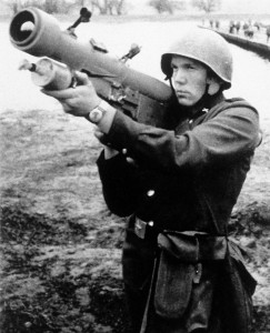 A view of a Soviet SA-7 Grail surface-to-air missile.