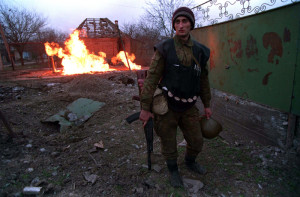 Chechen fighter in the Battle for Grozny, c. 1995