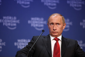 Vladimir Putin, Prime Minister of the Russian Federation during the 'Opening Plenary of the World Economic Forum Annual Meeting 2009'