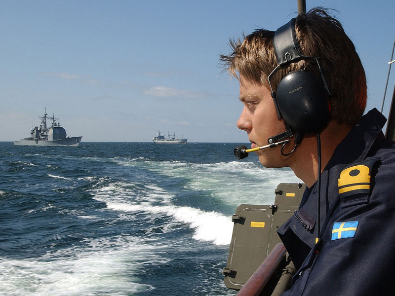 Swedish Navy Officer during BALTOPS 2003