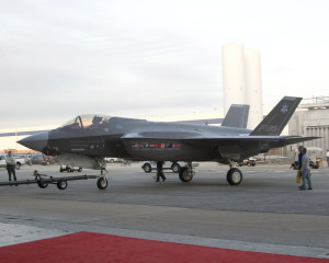 A F-35A while being towed at the Inauguration Ceremony on July 7th, 2006.