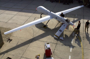 Prepping a MQ-1 Predator drone for operations