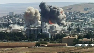 Twin explosion in Kobane. ISIS claims it was not airstrikes, but a suicide bomber