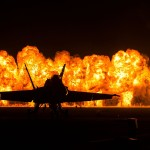 Blue Angel wall of fire at airshow