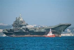 Soviet aircraft carrier Varyag, now PLAN Liaoning